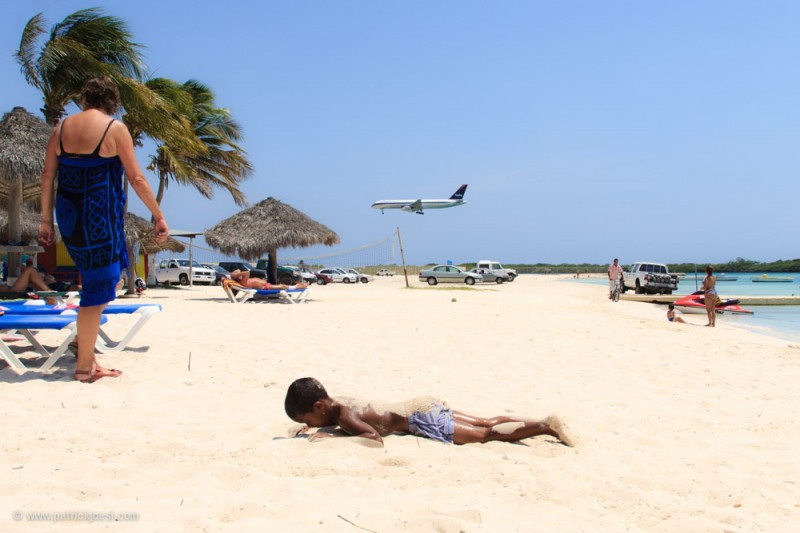 Havana Beach in Aruba is very close to the Airport. Aruba's claim is: One Happy Island.