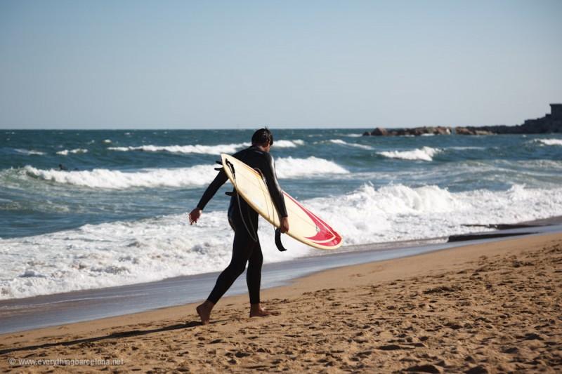 Surfing Barcelona