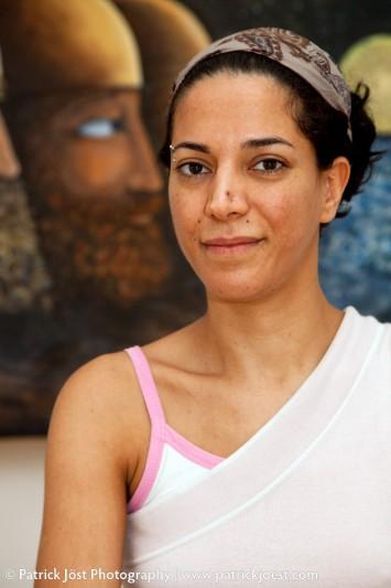 Iranian artist Zahra Alma Ghassemino