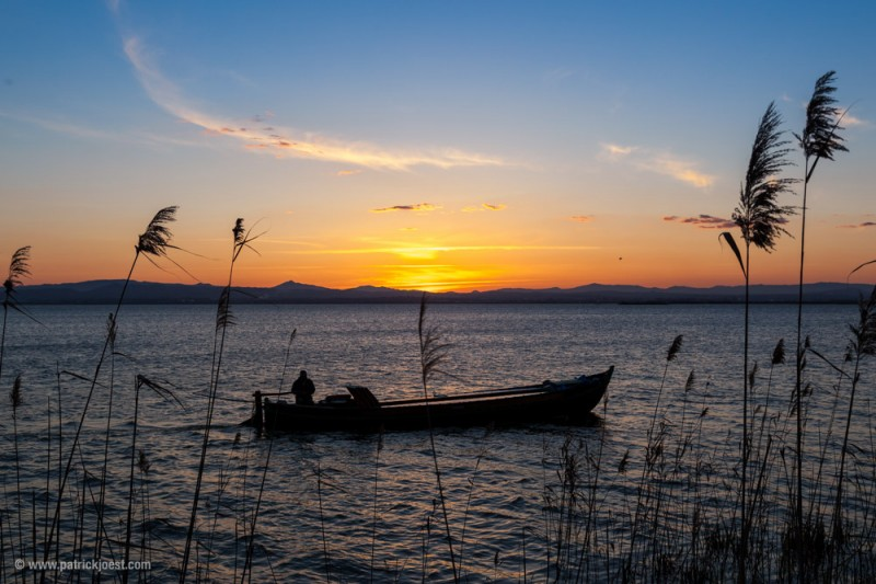 Sunset at Parque natural de la Albufera