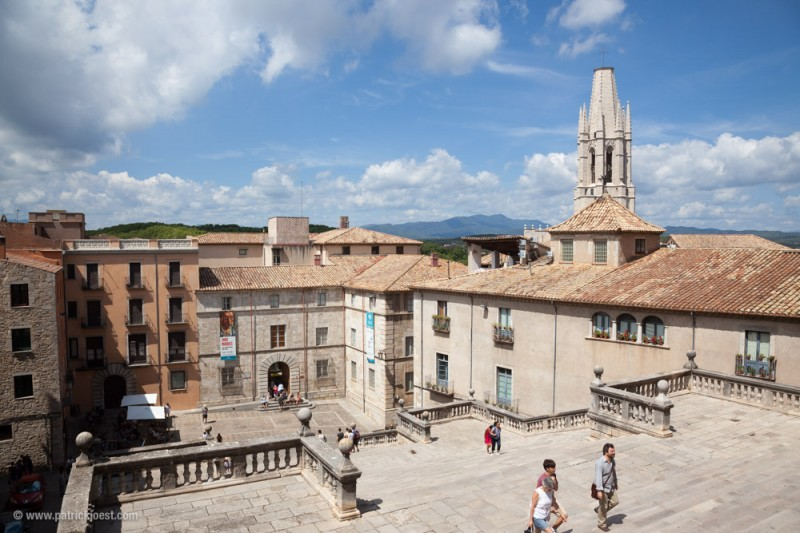 View from the Cathedral to town, ciytscape of Girona