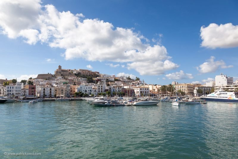 Ibiza Town view from seaside