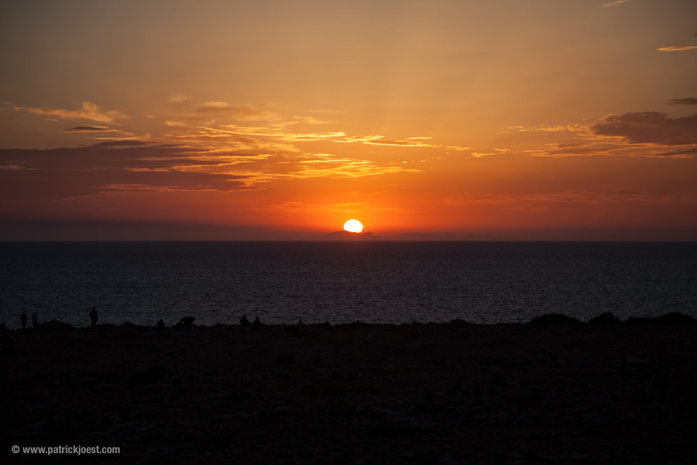 Sunset at Cap de Barbaria in Formentera