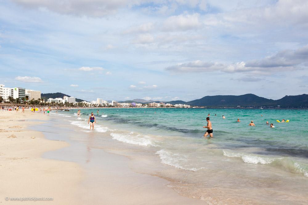 The beach at Cala Millor, Mallorca