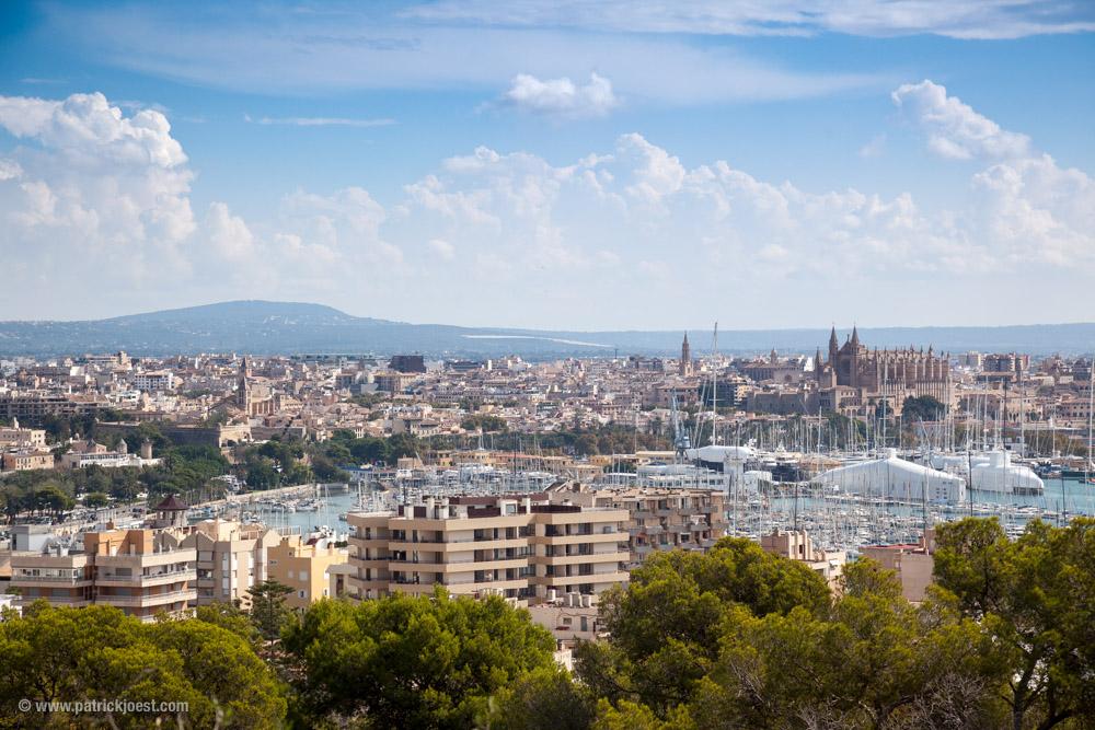 View on Palma de Mallorca from Castell de Bellver