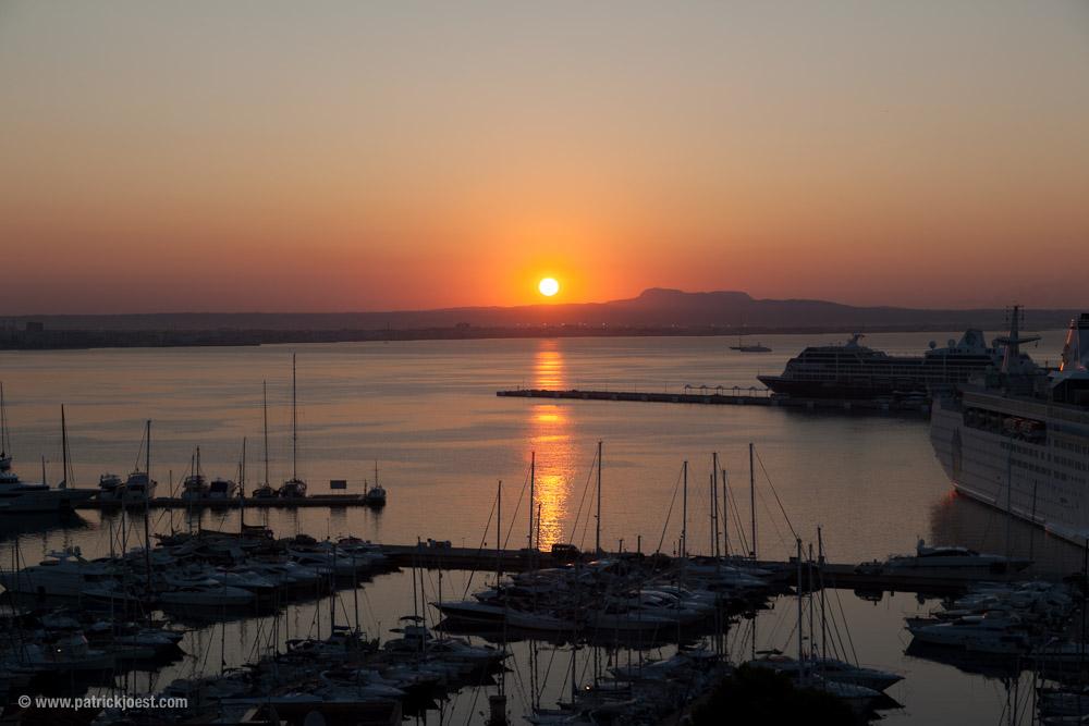 Sunrise in the Port of Palma de Mallorca